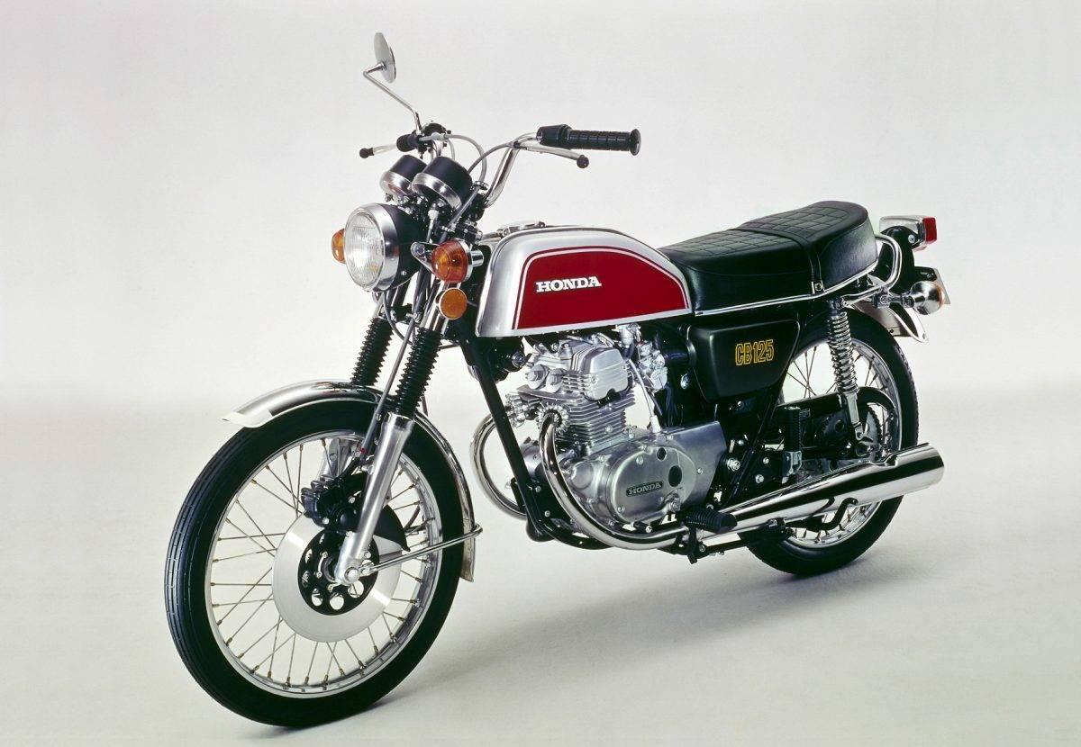 1974 erschien die honda cb 125 k b6 mit neuem design und mechan scheibenbremse vorn quelle honda motor co