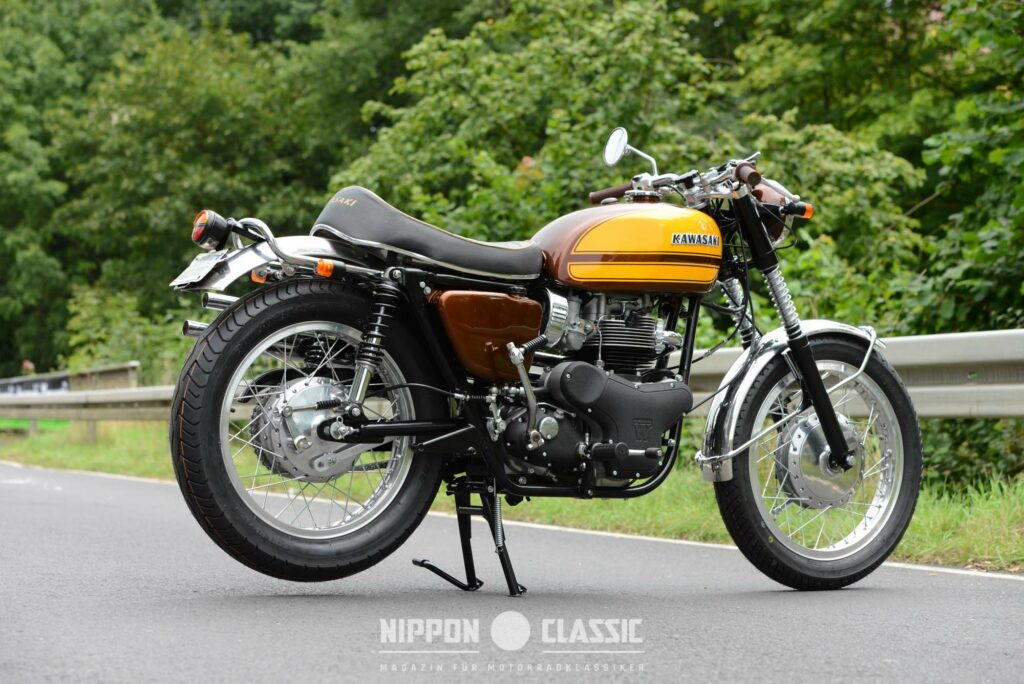 Perfekt restaurierte Kawasaki 650 WSS