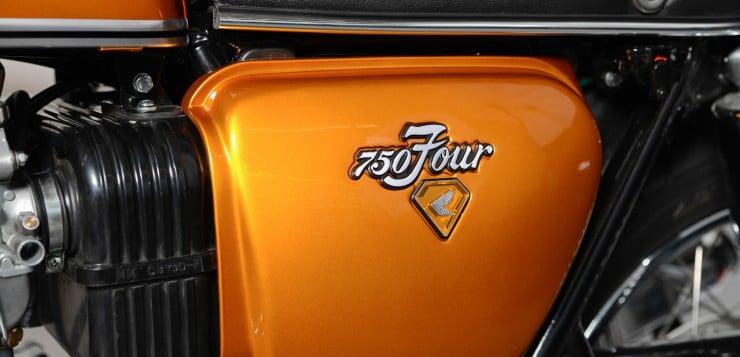 Ein Emblem mit Ansage: Honda 750 Four