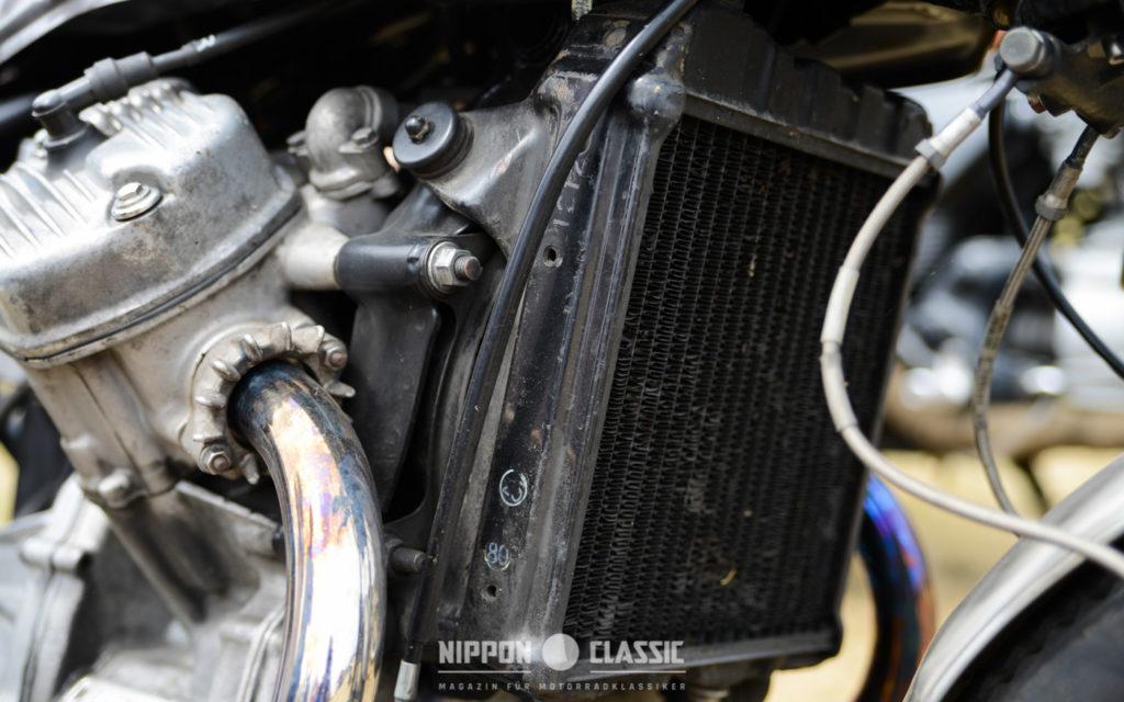 Unübersehbar: der großer Kühler des CX 500 Motors