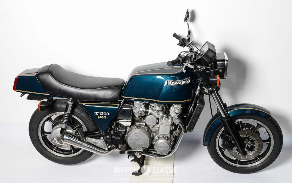 Der Sechszylinder-Motor der Kawasaki Z 1300 baute fast 60 Zentimeter breit