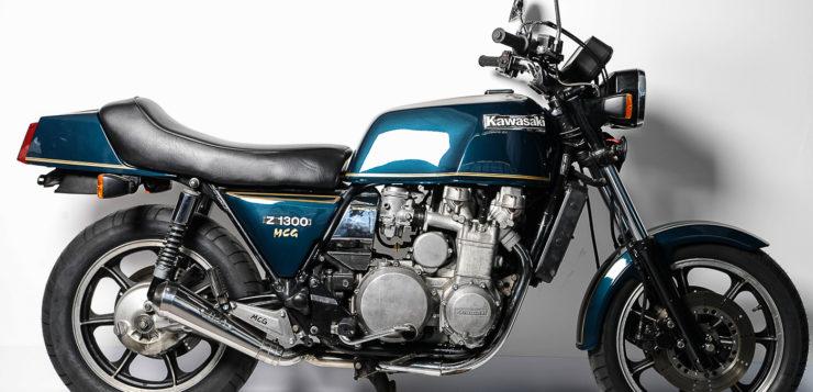 Einen Kickstarter hatte die Kawasaki Z 1300 unter der Sitzbank dabei