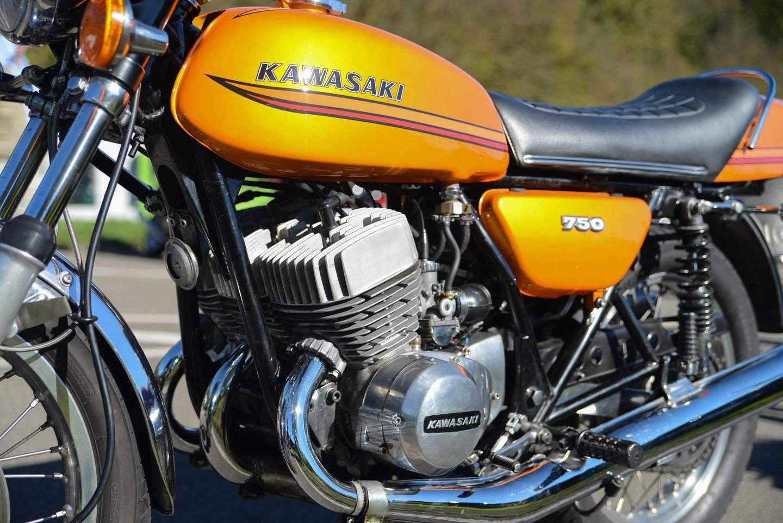 Kawasaki 750 H2 1971 1975 Fr Echte Kerle Gemacht Wiring Diagram Honda Four Der Kawa Triple Leistet Bis Zu 74 Ps Quelle