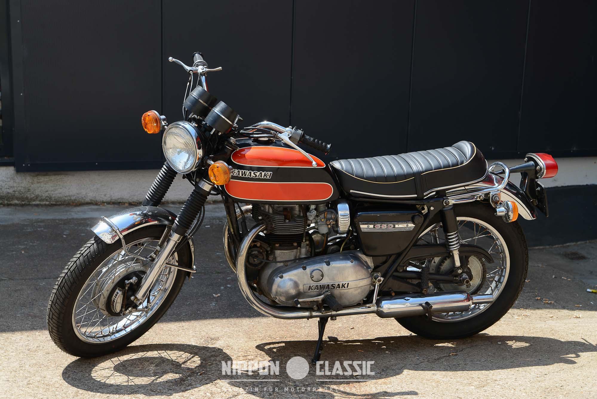 Die Kawasaki W1 650 wurde erstmals 1966 in Nordamerika vertrieben