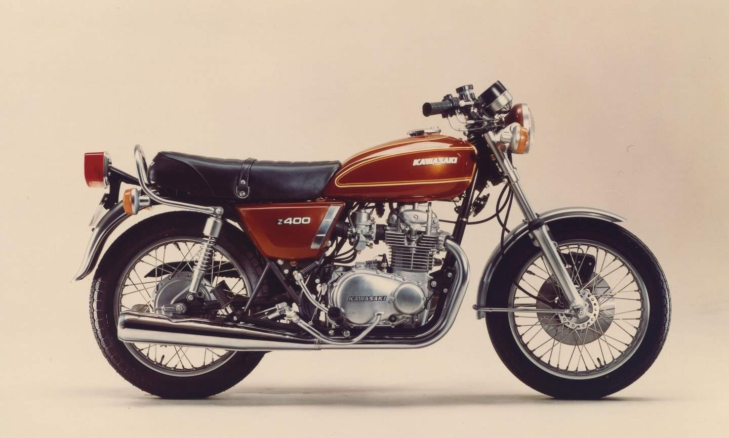 Kawasaki Z 400 (1974 bis 1980) - Robuster Parallel-Twin