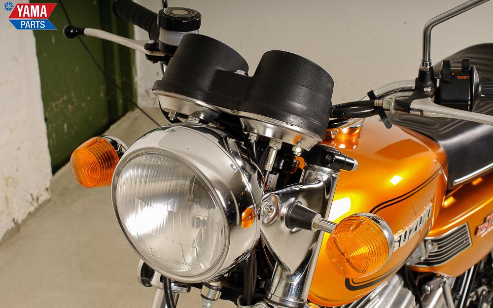 Verchromte Lampenhalter beim 1975er Modell