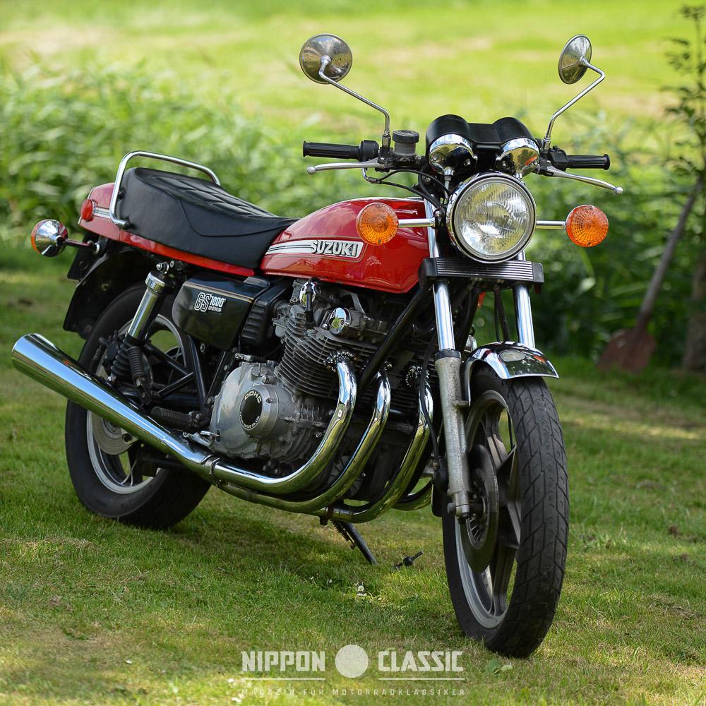 Mit 230 Kg trocken ist die Suzuki GS 1000 eine imposante Erscheinung