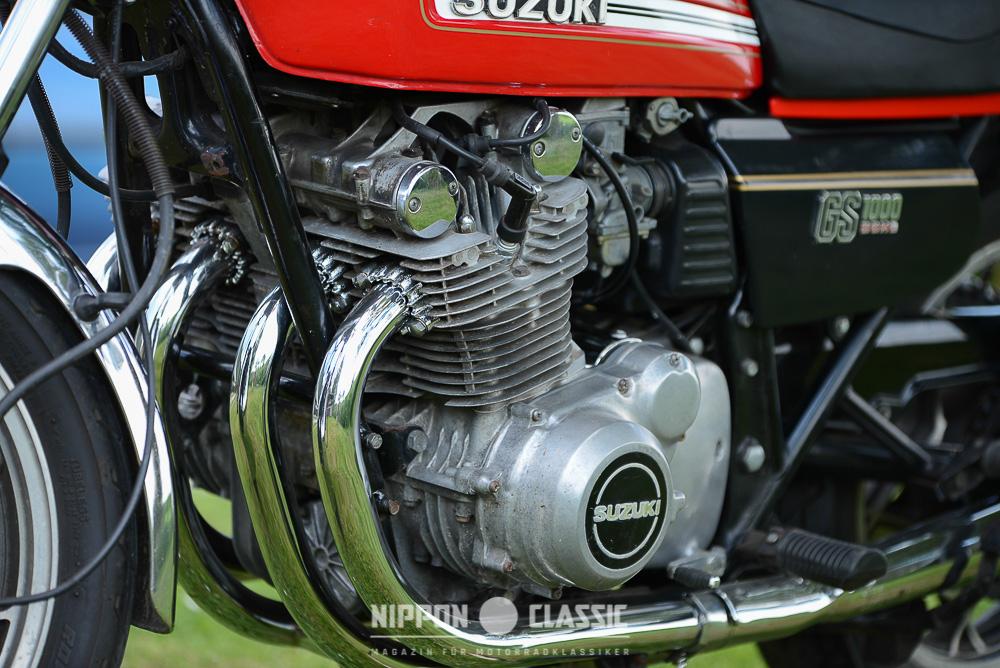 Modernes und wartungsarmes DOHC-Triebwerk der Suzuki GS 1000