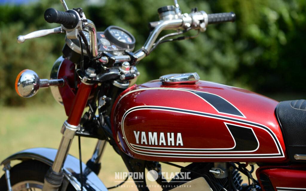 Unverbastelte RD 250 Yamahas sind heute schwer zu finden