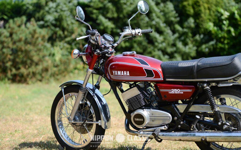 Die Yamaha RD 250 wurde 1973 mit 30 PS Motor eingeführt