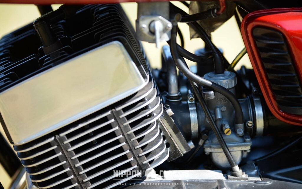Der 350 besaß eine Membransteuerung und sieben Spülkanäle im Zylinder