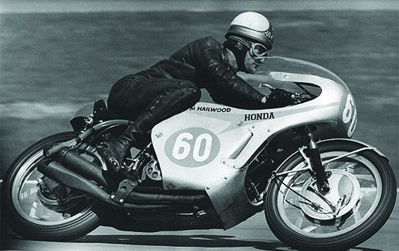 Mike Hailwood auf der Honda RC 173