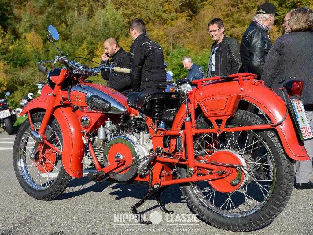 Die Moto Guzzi Falcone 500 war ein Highlight in Leonberg