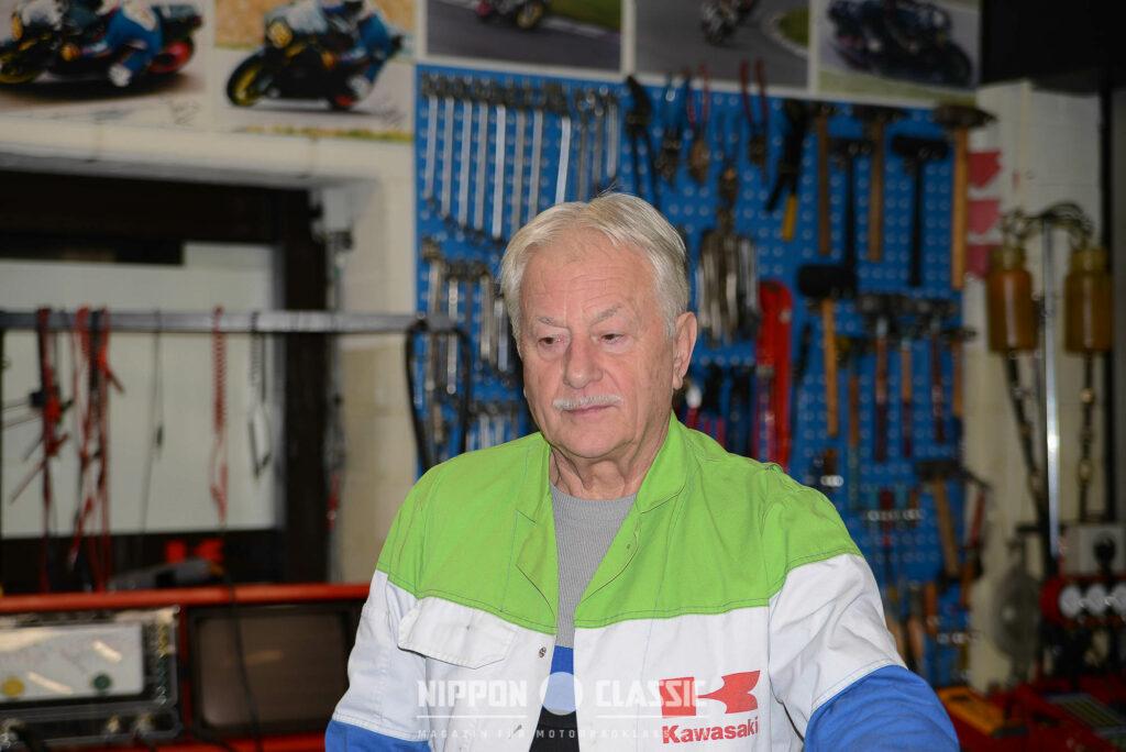 Anton Wolf heute in seiner Werkstatt in Seligenstadt