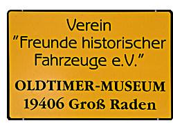 Oldtimermuseums Groß Raden