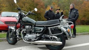 Yamaha XS 650 mit Beiwagen