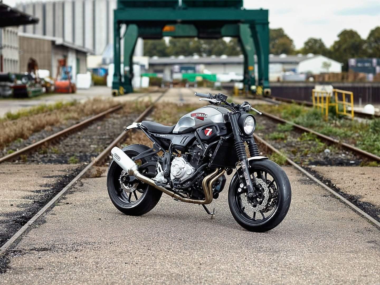 Der Umbau XSR700 Erfolgte Ohne Schweissarbeiten Quelle Yamaha
