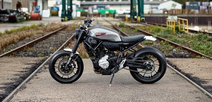 Die XSR700 gehört zur Sport Heritage-Reihe von Yamaha