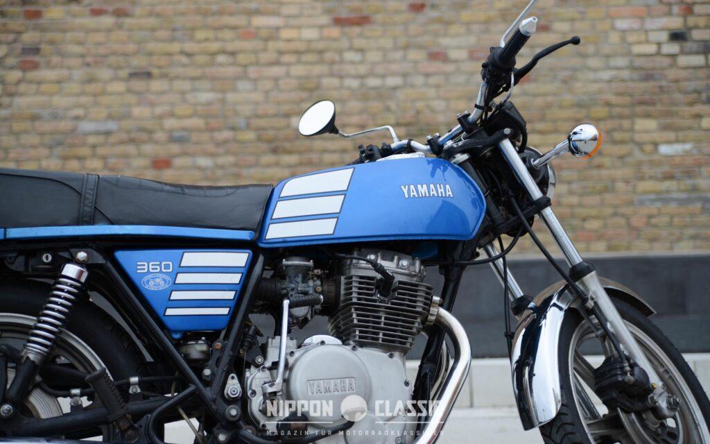 Das sportlich-kantiges Design der XS360 entsprach Zeitgeist dem Zeitgeist der 1970er Jahre