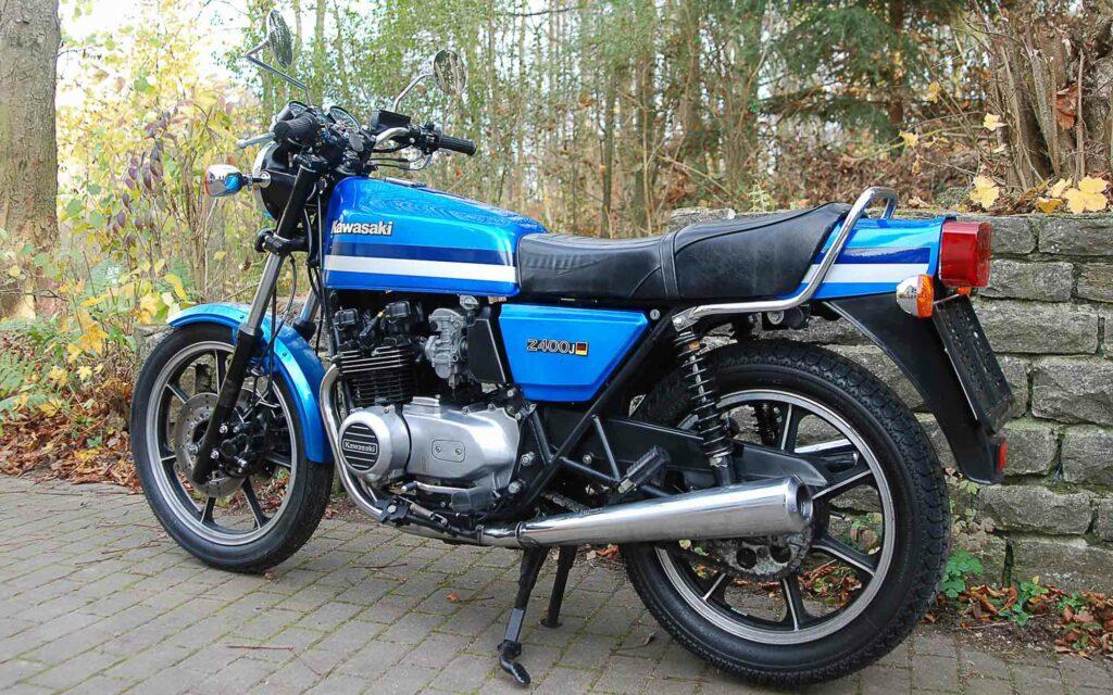 Die Patina meiner Kawasaki Z 400J habe ich erhalten
