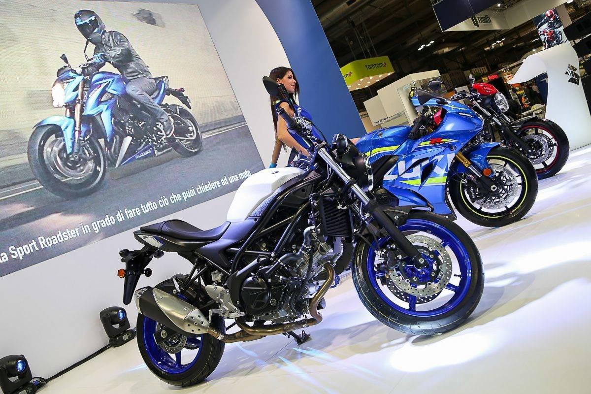 Suzuki kam mit naked Bikes und Sport Roadstern