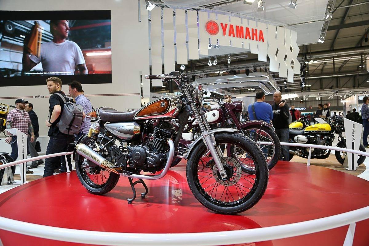 "Yamaha ""Resonator 125"" mit Retro-Applikationen"