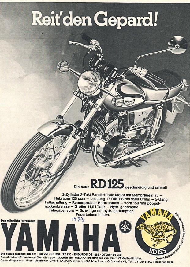 Yamaha RD 125 Werbung