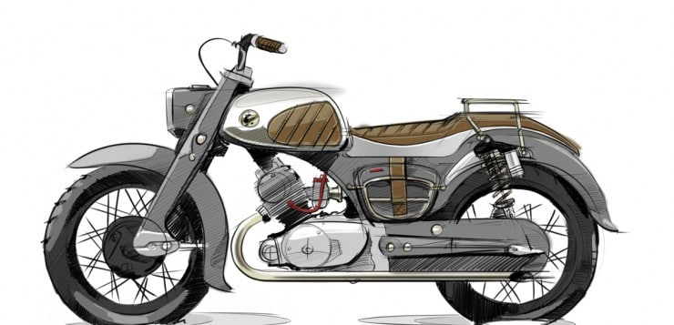 Custom Honda CA95 Dream von Dave Mucci