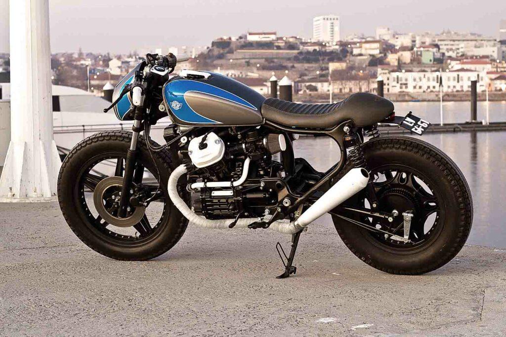 "Vor Porto's Kulisse: CX 500 Café Racer ""Blubber"" von Ton-up Garage"