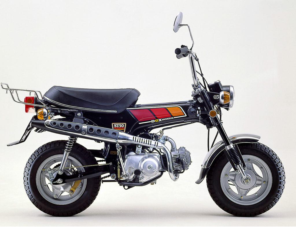 honda dax   mini motorrad fuer die westentasche
