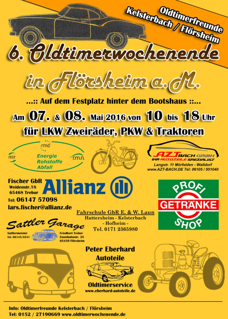 Oldtimerwochenende in Flörsheim (Quelle: Veranstalter)
