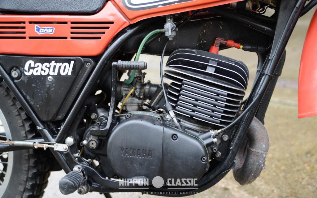 Der Motor der Yamaha DT 250 MX büßte Leistung ein - 18 PS blieben