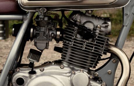 Der Motor der Yamaha SR 250 wurde komplett überholt