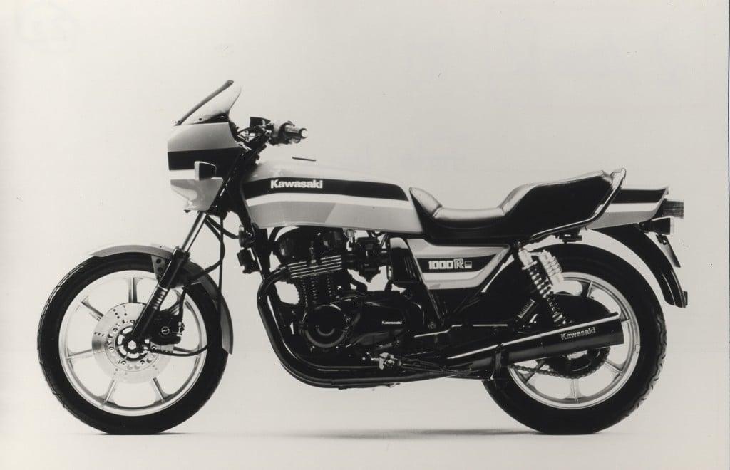Alte Aufnahme der Kawasaki Z 1000 R