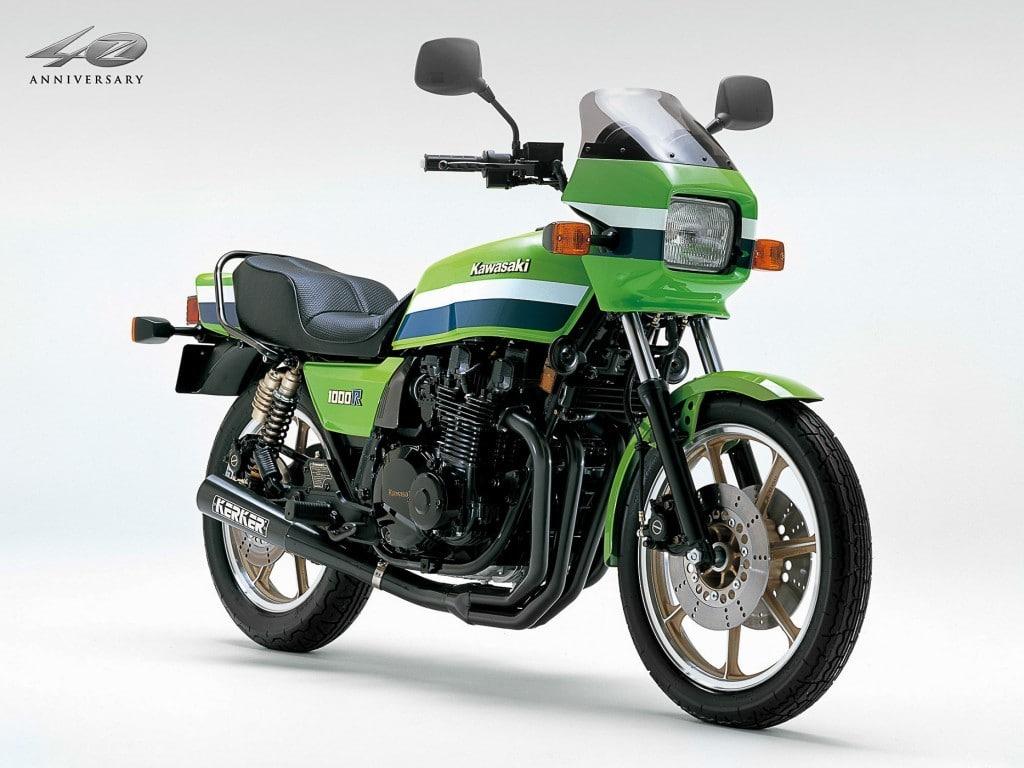 Die Kawasaki Z 1000 R in typischem Lime Green