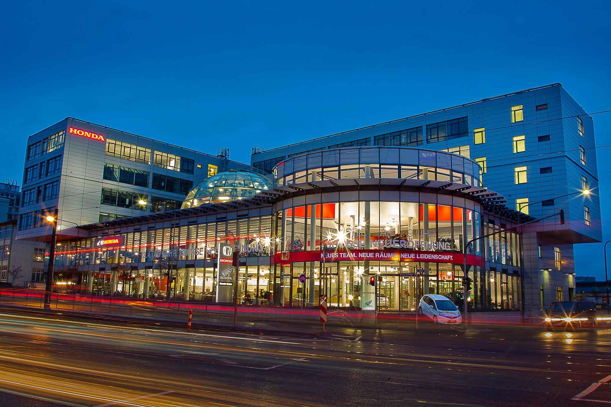 Seit 2013 residiert Honda in der neuen Zentrale in Frankfurt