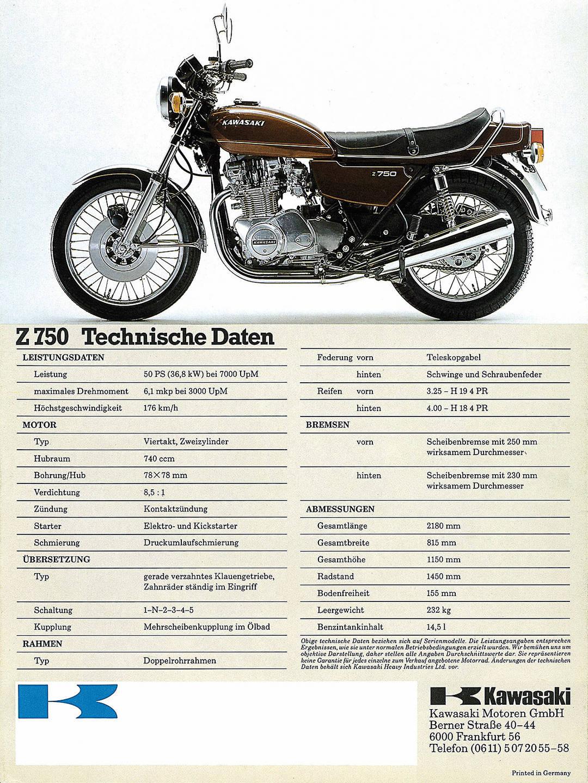 Kawasaki Motorcycles Brochure