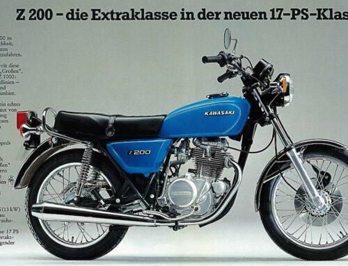 Kawasaki Z 200 Prospekt (1976) – Extraklasse in der 17-PS-Klasse