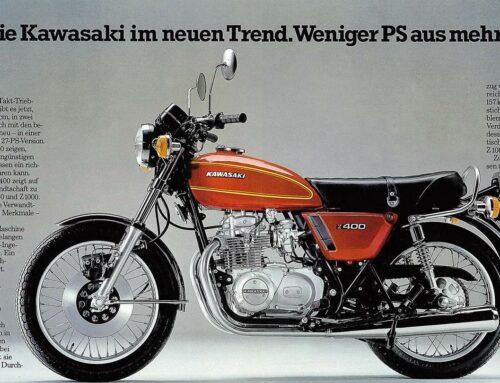 Kawasaki Z 400 Prospekt (1974) – Kawa im neuen Trend