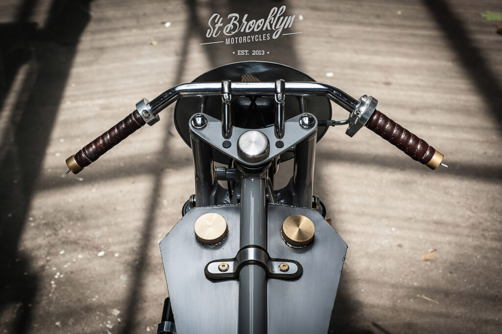 Custom-Motorrad mit viel nostalgischer Liebe zum Detail