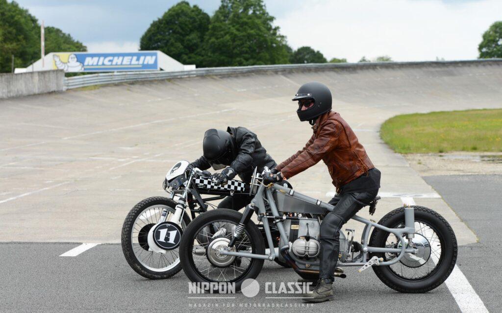 """Die BMW von  von St-Brooklyn Motorcycles gehört zum """"Fuhrpark"""" der Sultans of Sprint"""