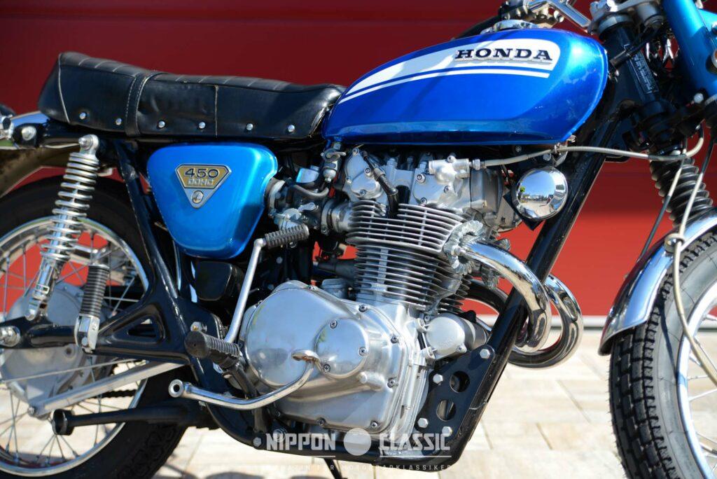 Der DOHC-Motor passte gut zum Charakter des Honda Scramblers