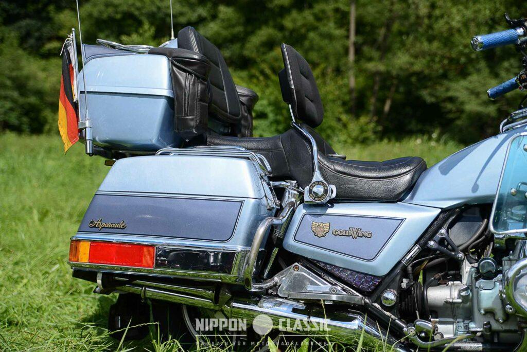 Die Honda GL 1200 hatte auch eine zweifarbige Lackierung