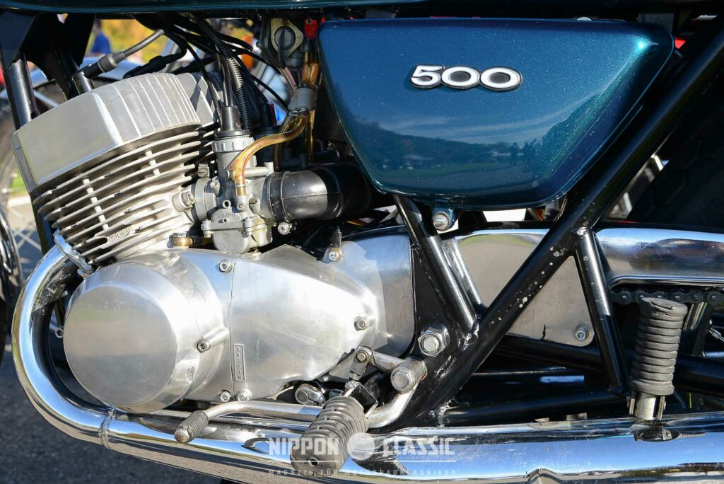 Die Kawasaki 500 H1 gönnte sich auch mal bis zu 13 Liter auf 100 Kilometer