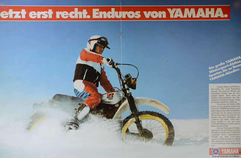 Yamaha XT 500 Prospekt 1981