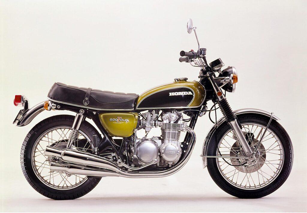 Honda CB 500 Four K1 in Candy Gold Lackierung aus dem Jahr 1971