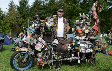 Werner aus Holland kam mit seinem Rat Bike extra zum Glemseck 101
