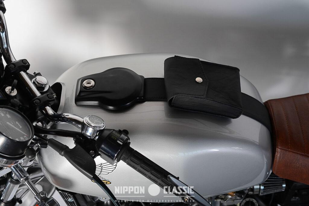 Ein kleines und praktisches Detail krönt die Tank des CX 500 Caferacers