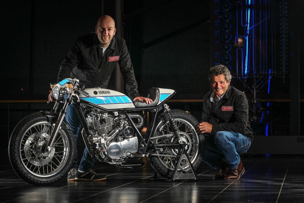 "Custombike-Designer Fred ""Krugger"" Bertrand und Bernard Ansiau"