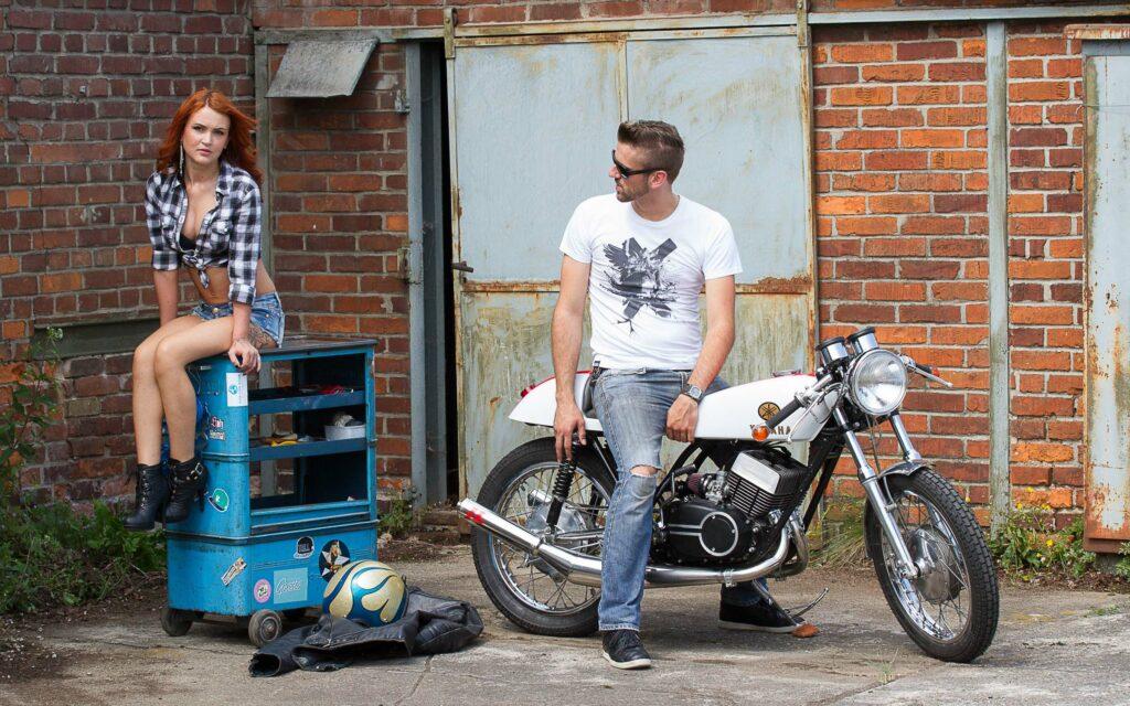 Der Schrauber und sein Yamaha DS7 Café Racer